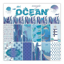 Load image into Gallery viewer, 24pcs 6 Inch Ocean Style DIY Album Scrapbook Craft Paper Scrapbooking Packs Paper Origami Art Background Pads Paper Card Making