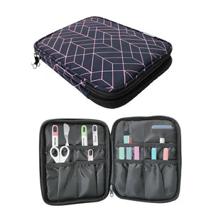 Carrying Bag Double-Layer Organizer for Cricut Pen Set and Basic Tool Set Double Layer Carrying Bag for Cricut Accessories