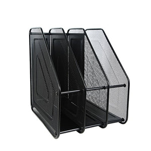 Metal Desktop Document Tray Letter Paper Magazine Wire Mesh Desk Organizer Office Storage Rack File Holder Filing Products H0928