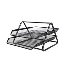 Load image into Gallery viewer, Metal Desktop Document Tray Letter Paper Magazine Wire Mesh Desk Organizer Office Storage Rack File Holder Filing Products H0928