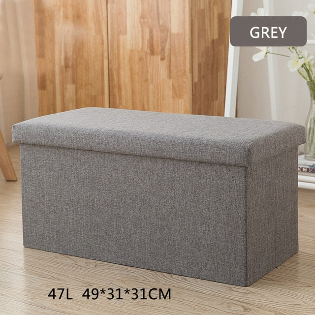 Multipurpose Storage Box Stool Innovative Sofa Stool Storage Footstool for Clothes Shoes Toys Snacks Magazines Home Organizers
