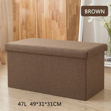 Load image into Gallery viewer, Multipurpose Storage Box Stool Innovative Sofa Stool Storage Footstool for Clothes Shoes Toys Snacks Magazines Home Organizers