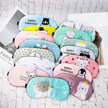 Load image into Gallery viewer, Lovely Cartoon Animal Sleeping Mask Eyepatch Eye Cover Travel Relax Sleeping Aid Patch Women Men Shading Soft Blindfold Fashion