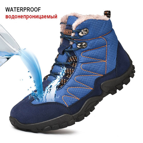 Couple Winter Hiking Shoes Waterproof Trekking Shoes Men Women Outdoor Climbing Hunting Boots Anti-skid Wearable Tactical Boots