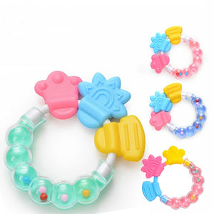 1PC Baby Teething Molar Sticks Silicone Teethers for Baby Chewable Rattle Circle Newborn Shower Gifts Baby Teethers
