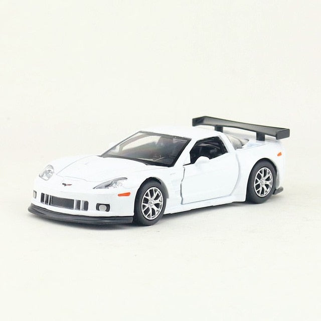 Simulation 1:36 Corvette C6 alloy car model,die-cast metal door pull back children's toy model,boy birthday gift,free shippin
