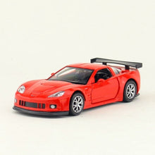 Load image into Gallery viewer, Simulation 1:36 Corvette C6 alloy car model,die-cast metal door pull back children's toy model,boy birthday gift,free shippin