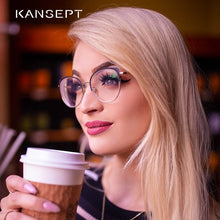 Load image into Gallery viewer, KANSEPT Women Glasses Frames Fashion Cat Eye Optical Myopia Eyeglasses Frame Brand Design For Women Eyewear #YC-8031