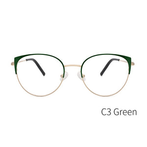 KANSEPT Women Glasses Frames Fashion Cat Eye Optical Myopia Eyeglasses Frame Brand Design For Women Eyewear #YC-8031