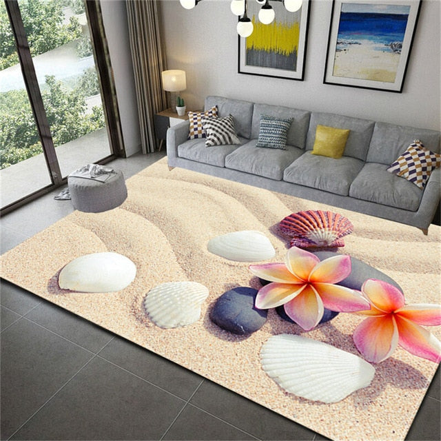 Wishstar 3D  Carpet Stone Printed Soft Flannel Large Carpet For Rooms Mats In The Hallway Antislip Kitchen Mat Big Floor Rugs