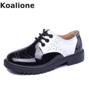 Kids Patent Leather Shoes Baby Girls Toddler Shoes Children Fashion Boys Oxford School Shoes Platform Black Flats Spring Autumn