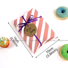 Load image into Gallery viewer, Flamingo pillow box for chocolate candy cookie christmas wedding party baby shower large paper favor gift pillow packaging boxes