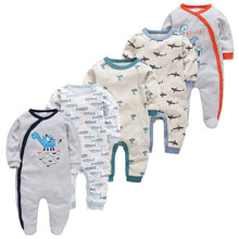 Load image into Gallery viewer, Newborn Girl Boy Pijamas5pcs Sleepers Baby Pyjamas bebe fille Cotton Breathable Baby Pjiamas