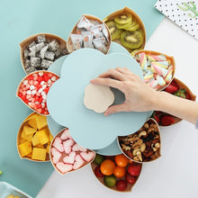 Load image into Gallery viewer, Creative Double-layer Rotary Storage Box Flower Design Plastic Snack Candy Box Fruit Basket Wedding Decoration Organizer