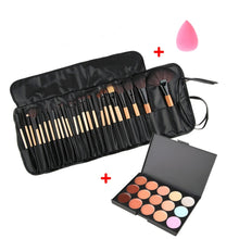 Load image into Gallery viewer, Beauty Makeup Set Tool Professional 15 Colors Face Concealer Contour Platte +1 Cosmetic Sponge Puff+24pcs Pro Makeup Brushes