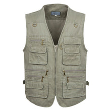 Load image into Gallery viewer, 5XL 6XL 7XL New Male Casual Summer Big Size Cotton Sleeveless Vest With Many 16 Pockets Men Multi Pocket Photograph Waistcoat