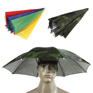Outdoor Fishing Cap Foldable Umbrella Hat Fishing Hat Hiking Camping Beach Headwear Sun Cap Sunscreen Shade Umbrella