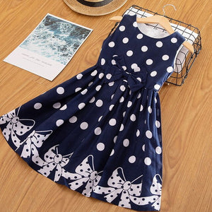 Summer Girl Clothes Kids Dresses For Girls Polka Dots Casual Vest Dress Baby Girl Party School Wear Children Girl Princess Dress