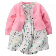 Load image into Gallery viewer, Newborn Infant Baby Girls Clothes Toddler Dresses Babe Girl Cardigan Bodysuit Dress 2019 Spring Summer Baby Girl Clothing Outfit