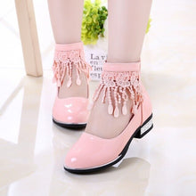 Load image into Gallery viewer, Tassel Girls Princess Shoes Flower Girl White Leather Shoes Kids Little Girls Party Dress School Shoes 4 5 6 7 8 9 10 11 12 Year