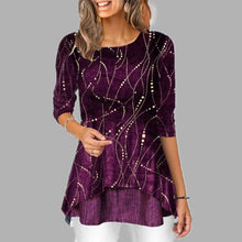 Load image into Gallery viewer, Plus Size 5XL O Neck 3/4 Sleeve Women's Tunics Dot Print Female Tunic Blouses Spring 2020 Summer Casual Irregular Hem Lady Shirt