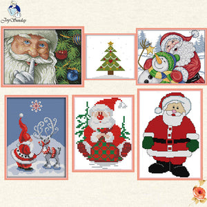 Christmas Collection Patterns DIY Hand Made Cross Stitch kit DMC 11ct 14ct Embroidery Home Decoration Send Gift Joy Sunday