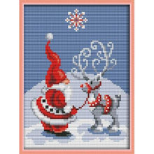 Load image into Gallery viewer, Christmas Collection Patterns DIY Hand Made Cross Stitch kit DMC 11ct 14ct Embroidery Home Decoration Send Gift Joy Sunday