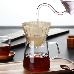 New Integrated Filter Cup Household Coffee Sharing Pot 400ml, Easy To Use Hand-made Coffee American, Mocha, Latte Hand-made Pot