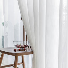 Load image into Gallery viewer, CITYINCITY white modern curtains for living room strip Jacquard kitchen curtain For bedroom voile Window ready made Curtain