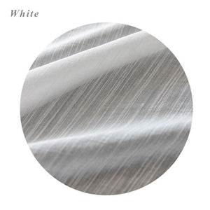 CITYINCITY white modern curtains for living room strip Jacquard kitchen curtain For bedroom voile Window ready made Curtain