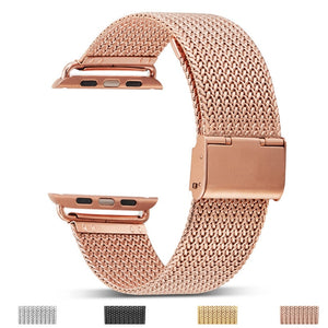 for Apple Watch 4 40MM 44MM Strap Stainless Steel Buckle Watchband for iwatch Series 4 Series 3/2/1 38mm 42mm Wrist Watch Band
