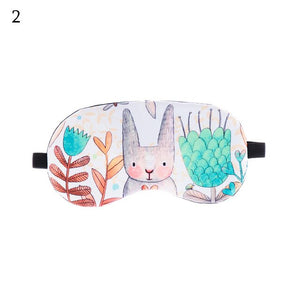 Lovely Cartoon Animal Sleeping Mask Eyepatch Eye Cover Travel Relax Sleeping Aid Patch Women Men Shading Soft Blindfold Fashion