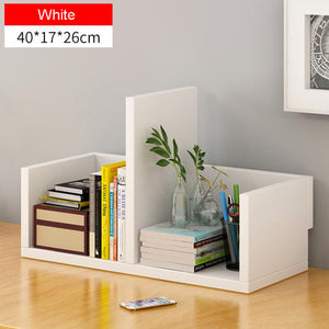 Creative computer desk bookshelf simple wood shelf small office storage frame desktop bookcase for office study home furniture