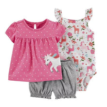 Load image into Gallery viewer, New summer 2020 baby girl clothing princess 3 pieces infant girls clothes sets , 6M -24M outfit baby accessories babies costumes