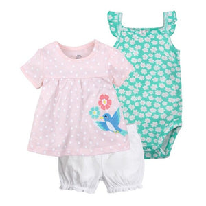 New summer 2020 baby girl clothing princess 3 pieces infant girls clothes sets , 6M -24M outfit baby accessories babies costumes