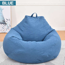 Load image into Gallery viewer, Lazy Sofas Cover NO Filler Linen Cloth Lounger Seat Chair Bean Bag Pouf Puff Couch Tatami puff para sala Living Room Cover only!