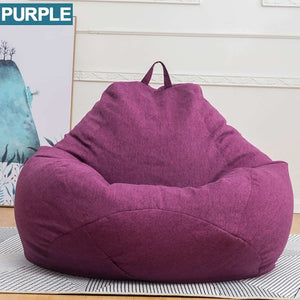 Lazy Sofas Cover NO Filler Linen Cloth Lounger Seat Chair Bean Bag Pouf Puff Couch Tatami puff para sala Living Room Cover only!