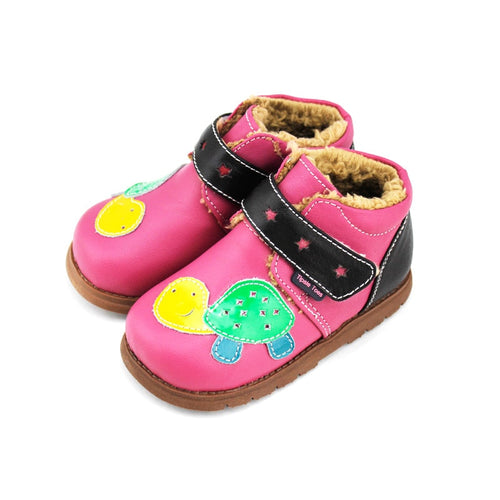 TipsieToes Brand High Quality Turtle Cartoon Sheepskin Kids Children Boots School Shoes For Girls New 2020 Autumn Winter A64101