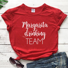 Load image into Gallery viewer, Margarita Drinking Team T-shirt Funny Unisex Cinco De Mayo Holiday Tshirt Casual Women Short Sleeve Drinking Cotton Tees Tops
