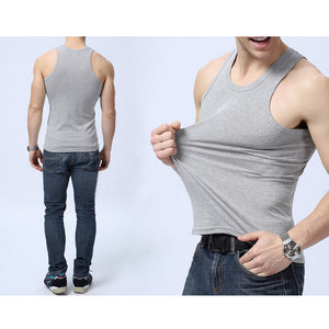 ITFABS Newest Arrivals Fashion Hot Men's Muscle Sleeveless Tee Tank Top Bodybuilding Fitness Vest Solid Casual Tanks