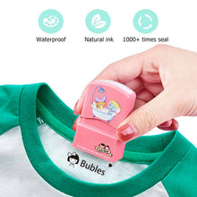 Load image into Gallery viewer, Customized Name Stamp Paints Personal Student Child Baby Engraved Waterproof Non-fading Kindergarten Cartoon Clothing Name Seal