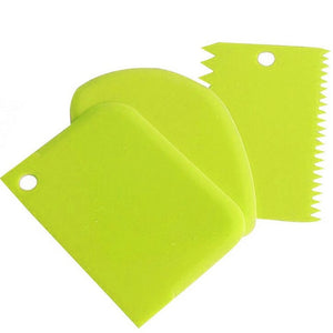 Kitchen Accessories 3 Pcs Plastic Baking Cake Scraper Dough Vegetable Cutter Kitchenware Mutfak Aksesuarlari Kitchen Gadgets