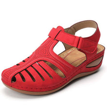 Load image into Gallery viewer, Women Summer Sandals Hollow Round Toe Ladies Sandals For Women Soft Sole Wedge Sandales Female Shoe Chaussures Femme Size 36-46