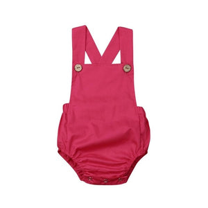 New 2020 Infant Newborn Baby Boys Girls Romper Summer Cotton Sleeveless One-pieces Suspender Jumpsuits Cotton Clothes Outfits
