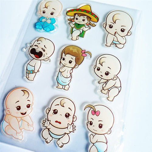 Hot sale Lovely baby Transparent Clear Stamps / Silicone Seals Roller Stamp for DIY scrapbooking photo album/Card Making