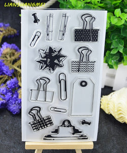 Clips Transparent Clear Silicone Stamp/Seal for DIY scrapbooking/photo album Decorative clear stamp sheets