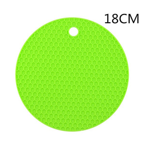 18/14cm Coaster for Kitchen Gadgets Silicone Insulation Mat Heat Resistant Non-slip Insulation Pad Placemat Kitchen Accessories