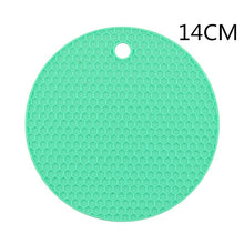 Load image into Gallery viewer, 18/14cm Coaster for Kitchen Gadgets Silicone Insulation Mat Heat Resistant Non-slip Insulation Pad Placemat Kitchen Accessories