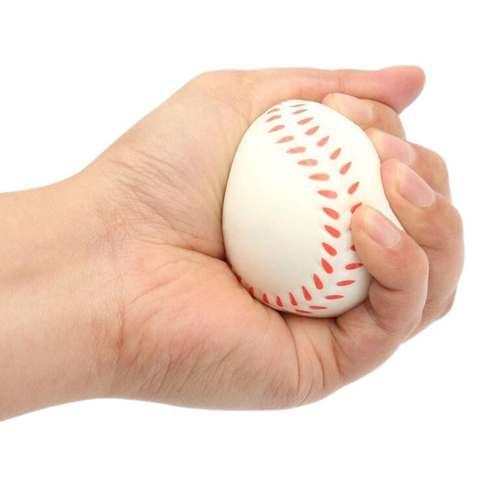 New Hot Hand Wrist Exercise Ball Baseball Shape Stress Relief Relaxation Squeeze Soft Foam Ball 6CM