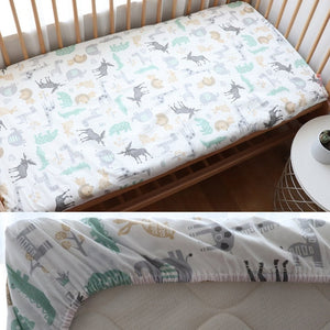 Baby Fitted Sheet For Newborns Cotton Soft Crib Bed Sheet For Children Mattress Cover Protector 130x70cm Allow Custom Make